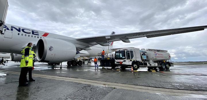 Premier vol long-courrier Air France-KLM avec du biokérosène produit en France