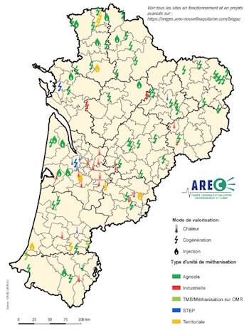 Où en est la méthanisation en Nouvelle-Aquitaine en 2021 ?