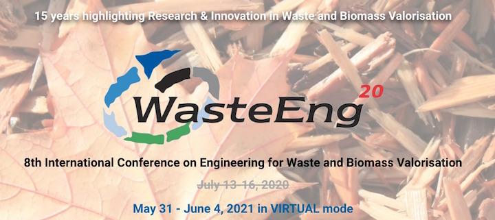 31 mai au 4 juin 2021, conférence mondiale sur la valorisation de la biomasse et des déchets
