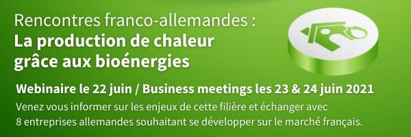 Encore une dizaine de jours pour vous inscrire aux e-rencontres franco-allemandes sur la production de chaleur grâce aux bioénergies – des 22, 23 & 24 juin 2021