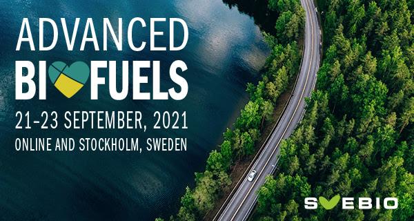 21-23 septembre 2021, conférence sur les biocarburants avancés à Stockholm
