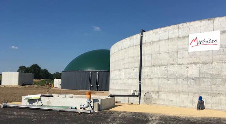 Jugnon Biogaz, troisième installation de valorisation de gaz vert à Viriat dans l'Ain