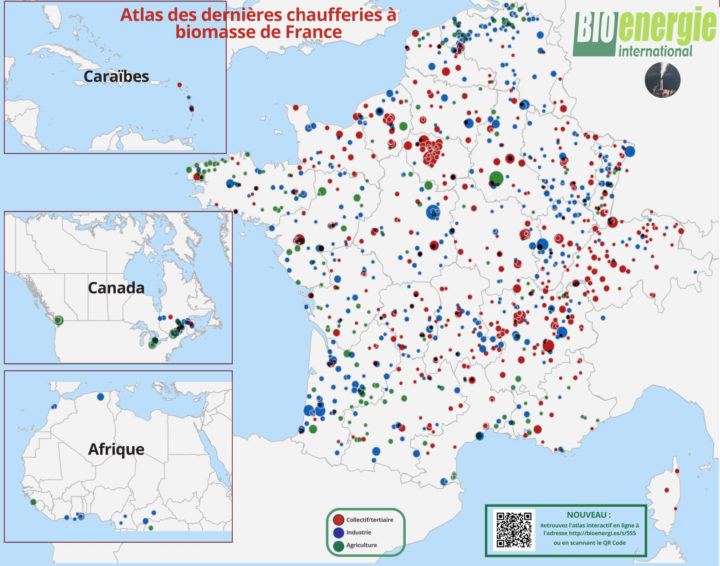 Les nouveautés 2021 de l'atlas Bioénergie International des chaufferies à biomasse