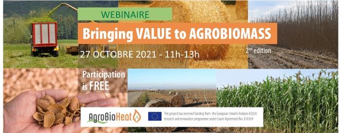 27 octobre 2021, webinaire européen sur la valorisation des agrocombustibles