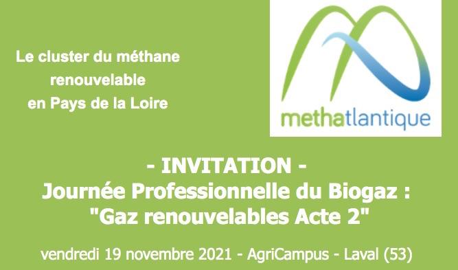 Journée professionnelle du biogaz le 19 novembre 2021 à Laval