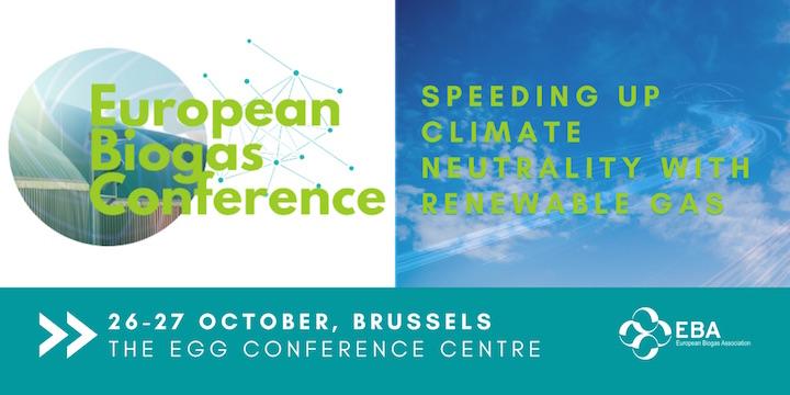 Conférence européenne du biogaz les 26 & 27 octobre 2021 à Bruxelles